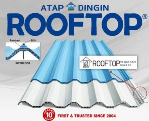 Jual Atap Dingin Untuk Garasi /Kanopi Rumah Merk Rofftop