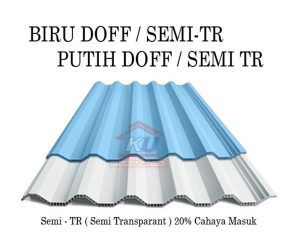 Supplier Atap UPVC ROOFTOP Harga Murah Permeter Sudah Include Roofseal